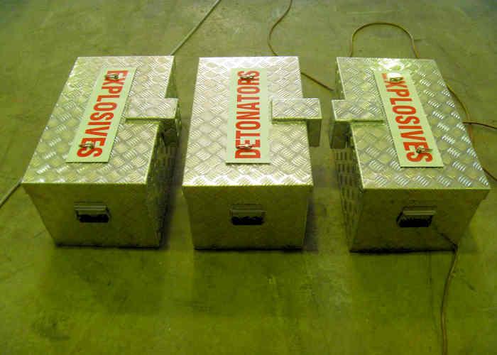 Maglok Explosives and Detonators Day boxes